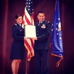 WCCC Alumna Commissioned in U.S. Air Force