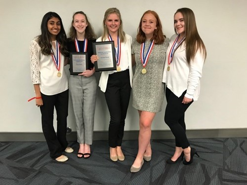 Kings students who competed at BPA