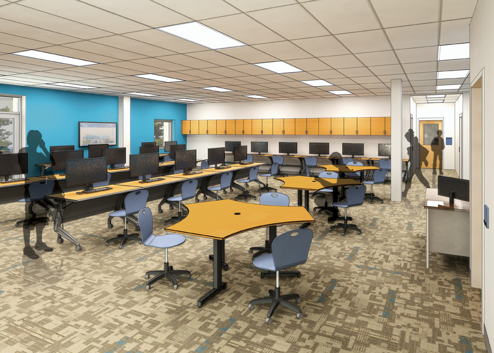 Architectural rendering of the Digital Design Lab