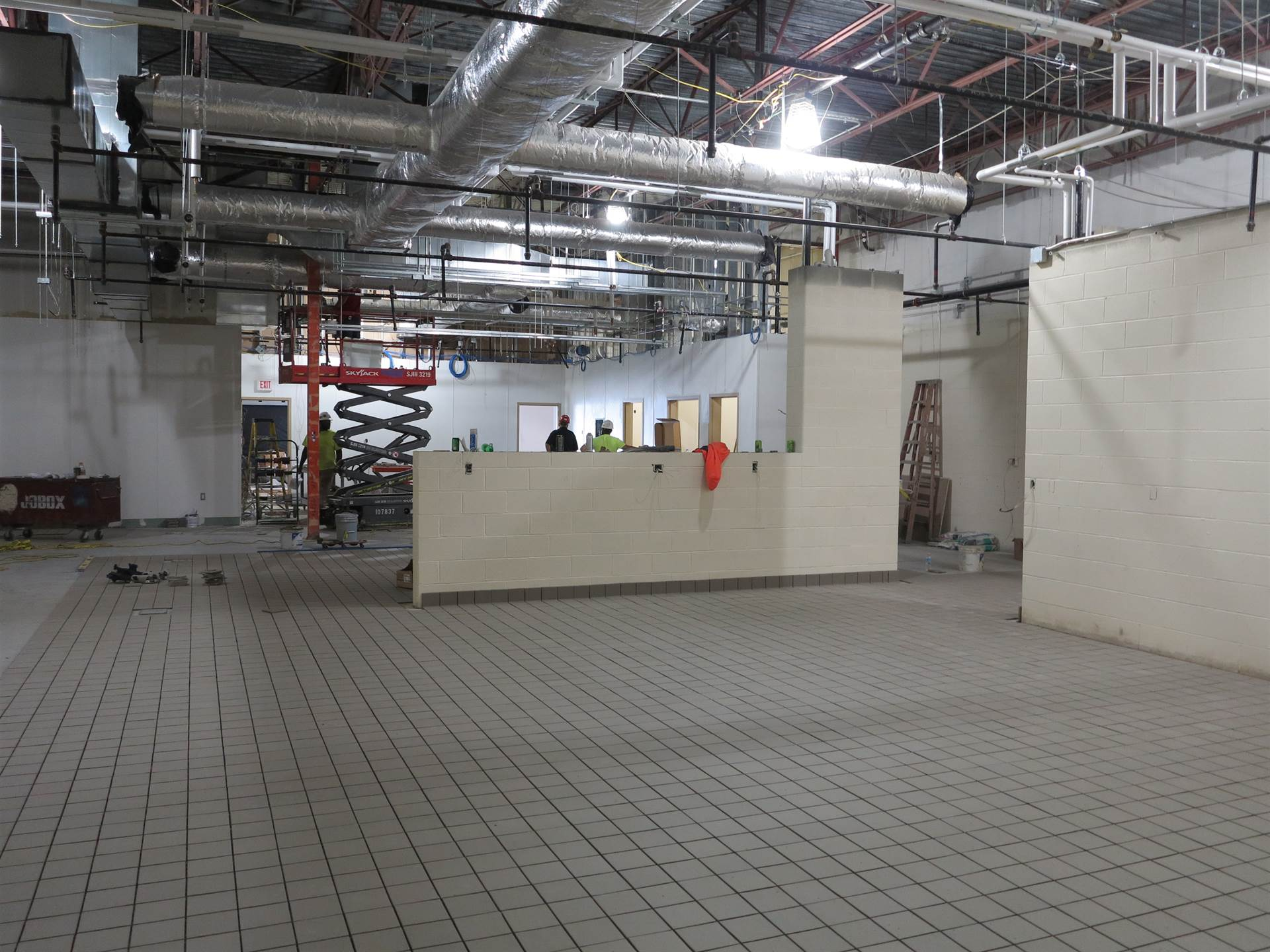 Culinary lab construction