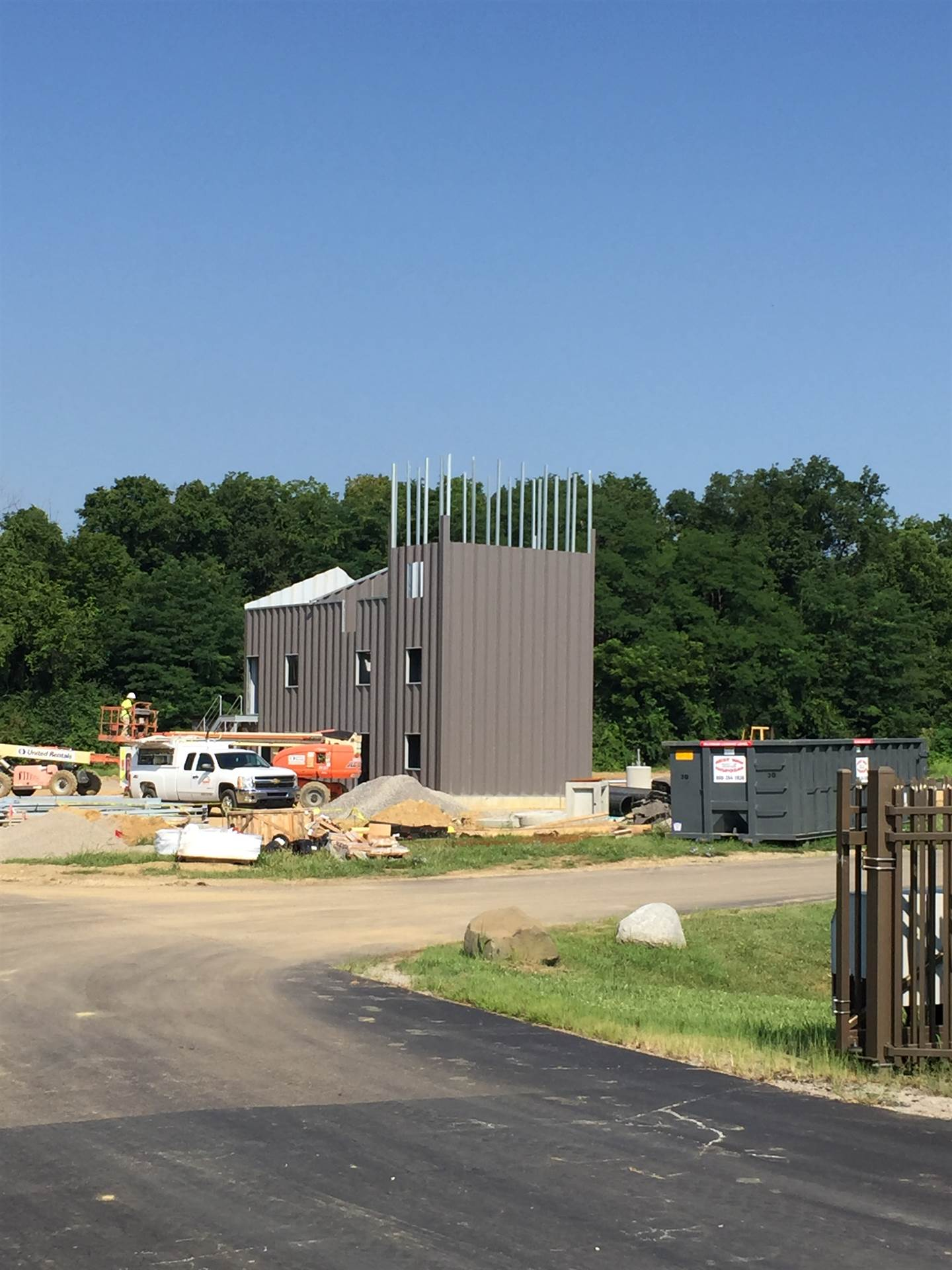 Fire and Rescue Training Facility and Burn Tower partial construction
