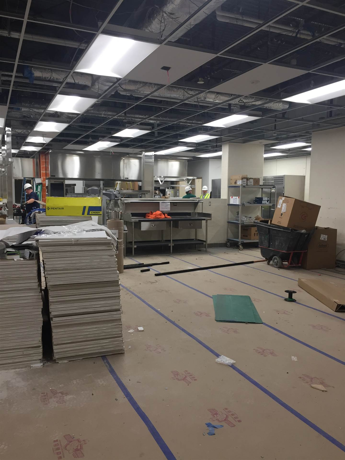Construction in Culinary Lab