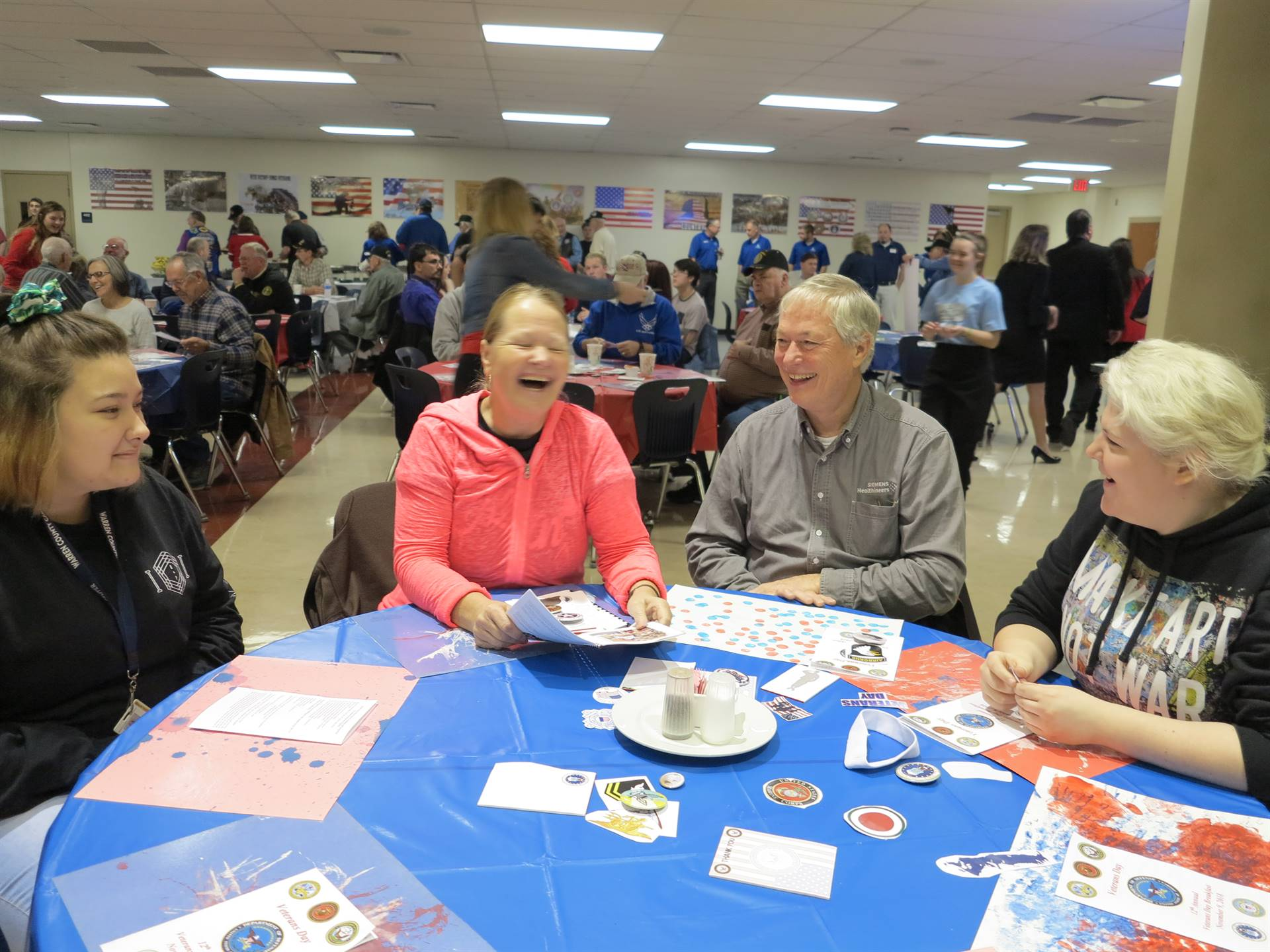 Veterans Day Breakfast photos of staff, students and veterans