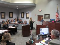 Investigating officer gives testimony in the Mock Trial