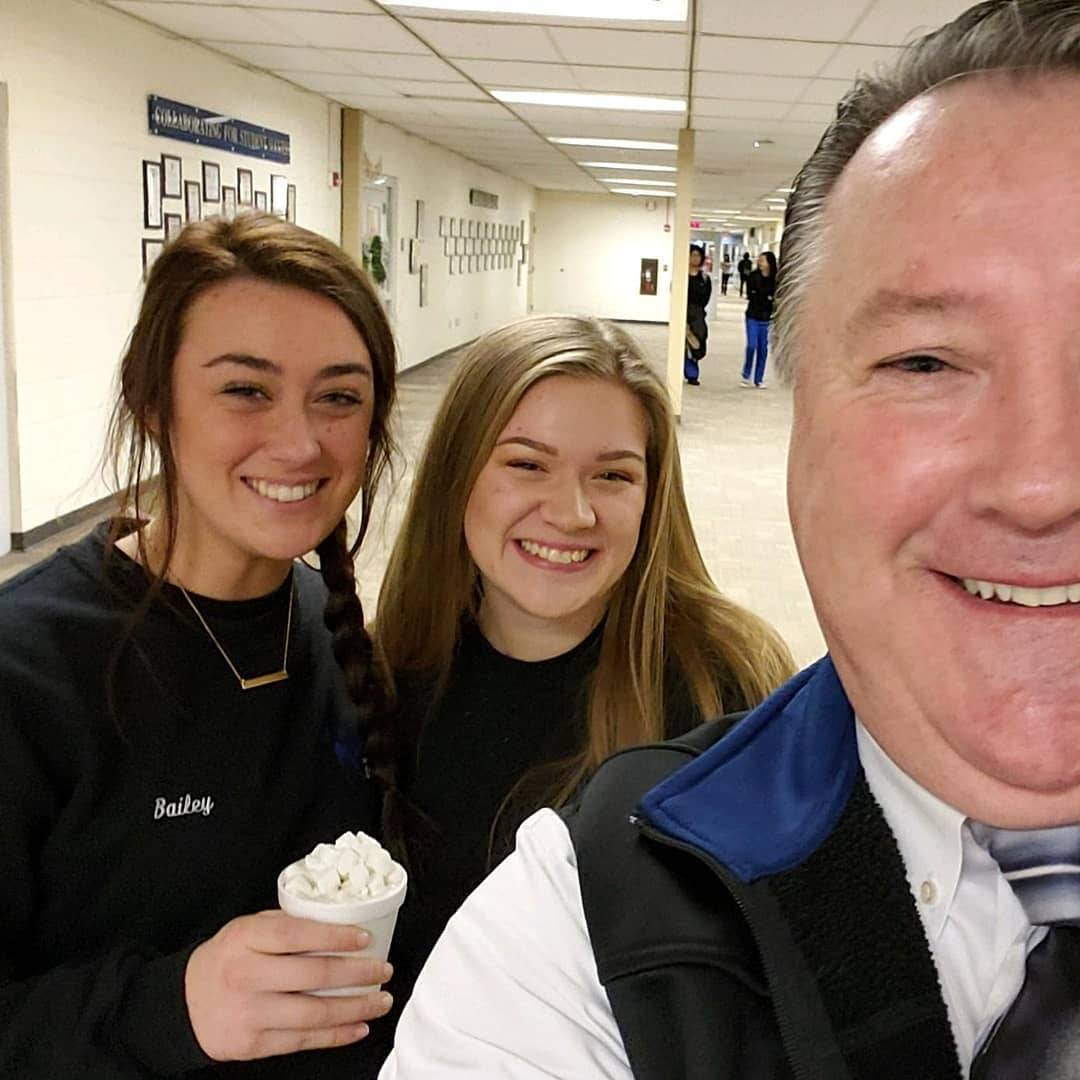 Students were welcomed back after winter break with hot cocoa