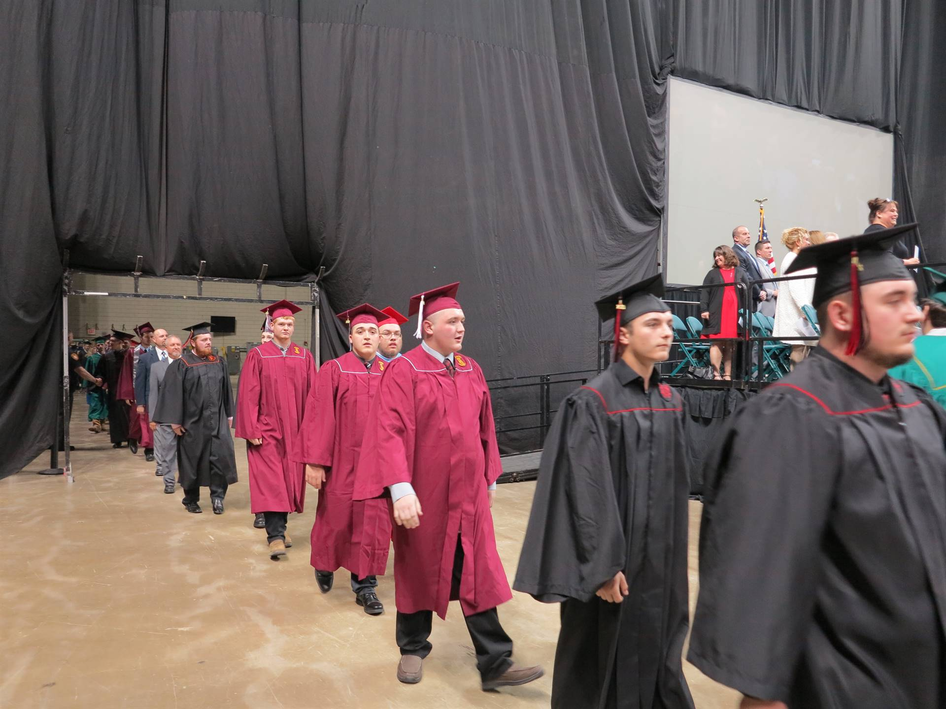 Students before the ceremony