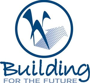 Graphic of W with arrow and Building for the Future text